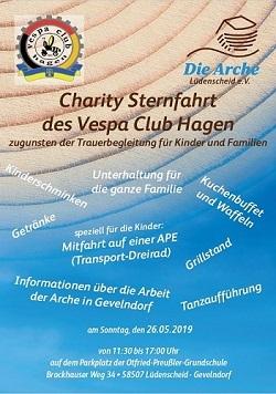 Sternfahrt des Vespa Clubs für die Arche